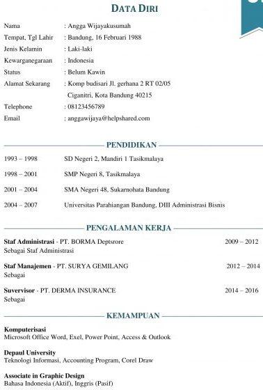 7 Contoh Daftar Riwayat Hidup 2019 Bahasa Indonesia Bahasa