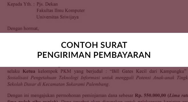 6 Contoh Surat Pengiriman Pembayaran Standar Perusahaan 2019