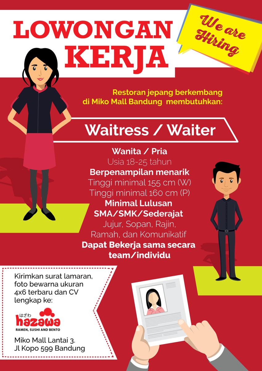 Iklan Lowongan Pekerjaan Waiters