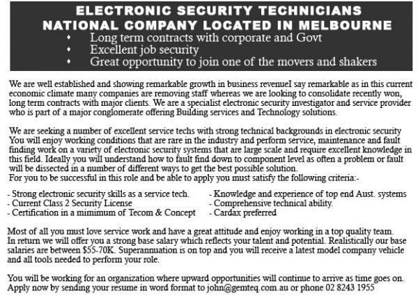 Iklan Lowongan Security