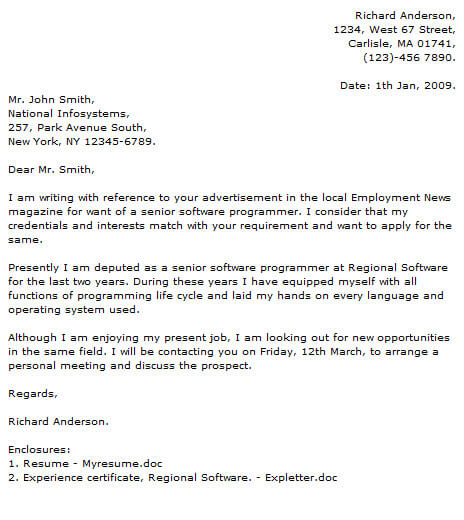 Surat Lamaran Kerja Programmer