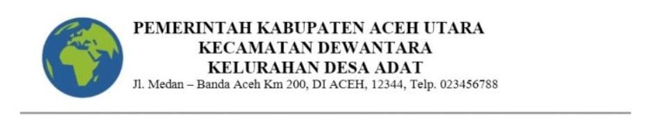 Contoh Kop Surat Kecamatan