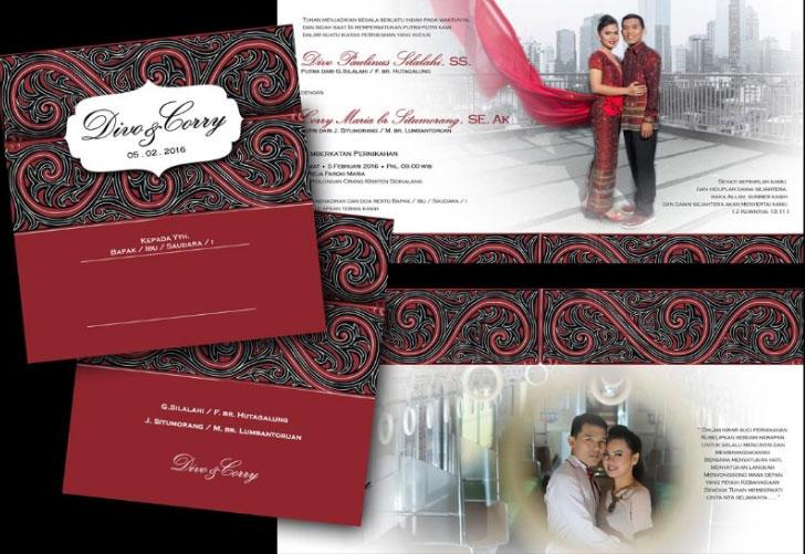 Contoh Undangan Pernikahan Batak