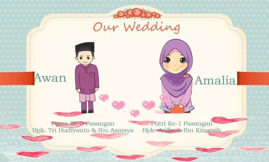 Contoh Undangan Pernikahan Islami Unik