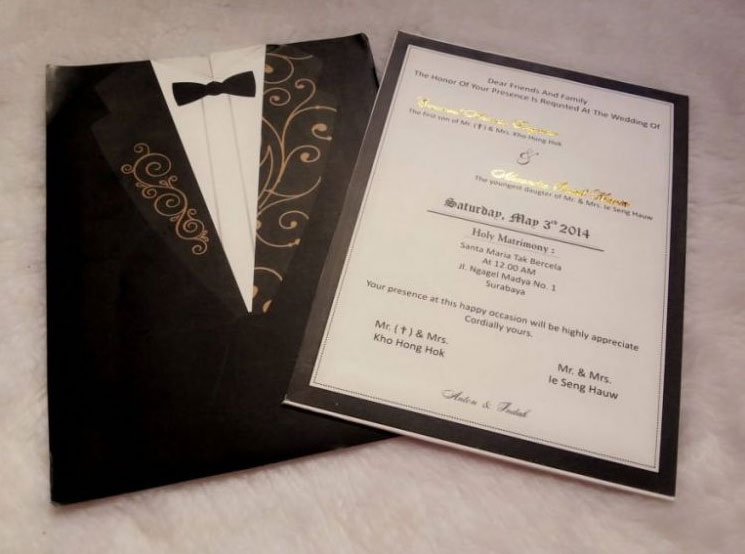 Contoh Undangan Pernikahan Satu Lembar