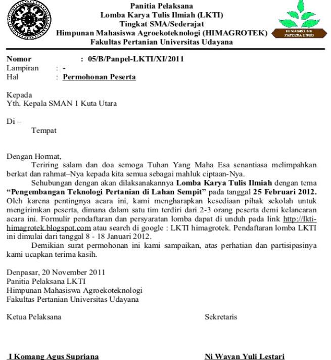 13 Contoh Surat Dinas Resmi Instansi Sekolah Pemerintah Dan