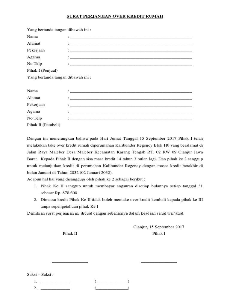 Cara Membuat Surat Perjanjian Jual Beli Tanah - Contoh ...