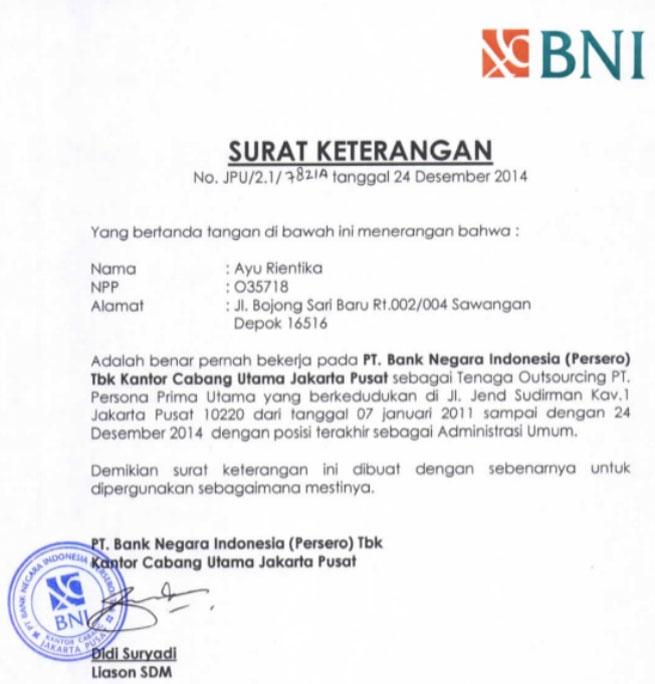 contoh surat referensi dari bank